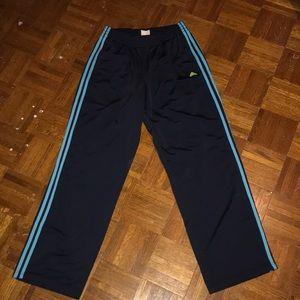 Navy blue Adidas sweat pants
